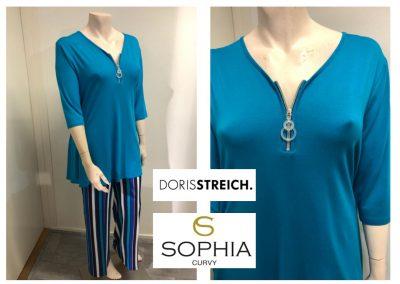 sophia broek steich shirt